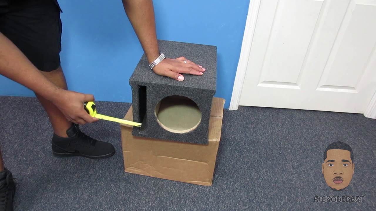 Asc Single 8 Inch Subwoofer Universal Slot Vented Port Sub Box Speaker Enclosure Youtube