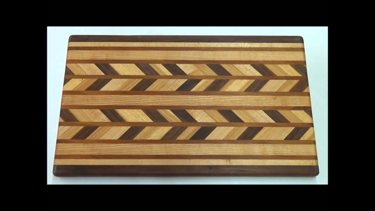 show how to make different designs for a cutting board