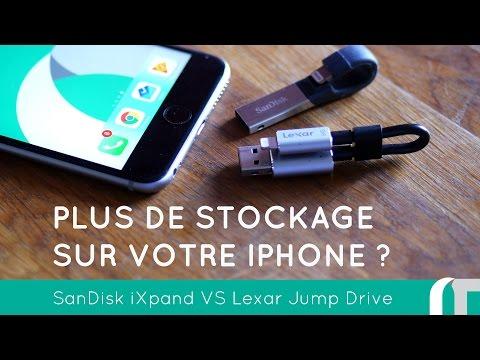 Test clefs USB pour iPhone et iPad | iXpand VS Jumpdrive c20i