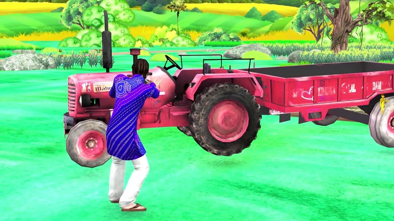लकड़ी का ट्रैक्टर Wooden Tractor Funny Comedy Video हिंदी कहानिय Hindi Kahaniya Comedy Video