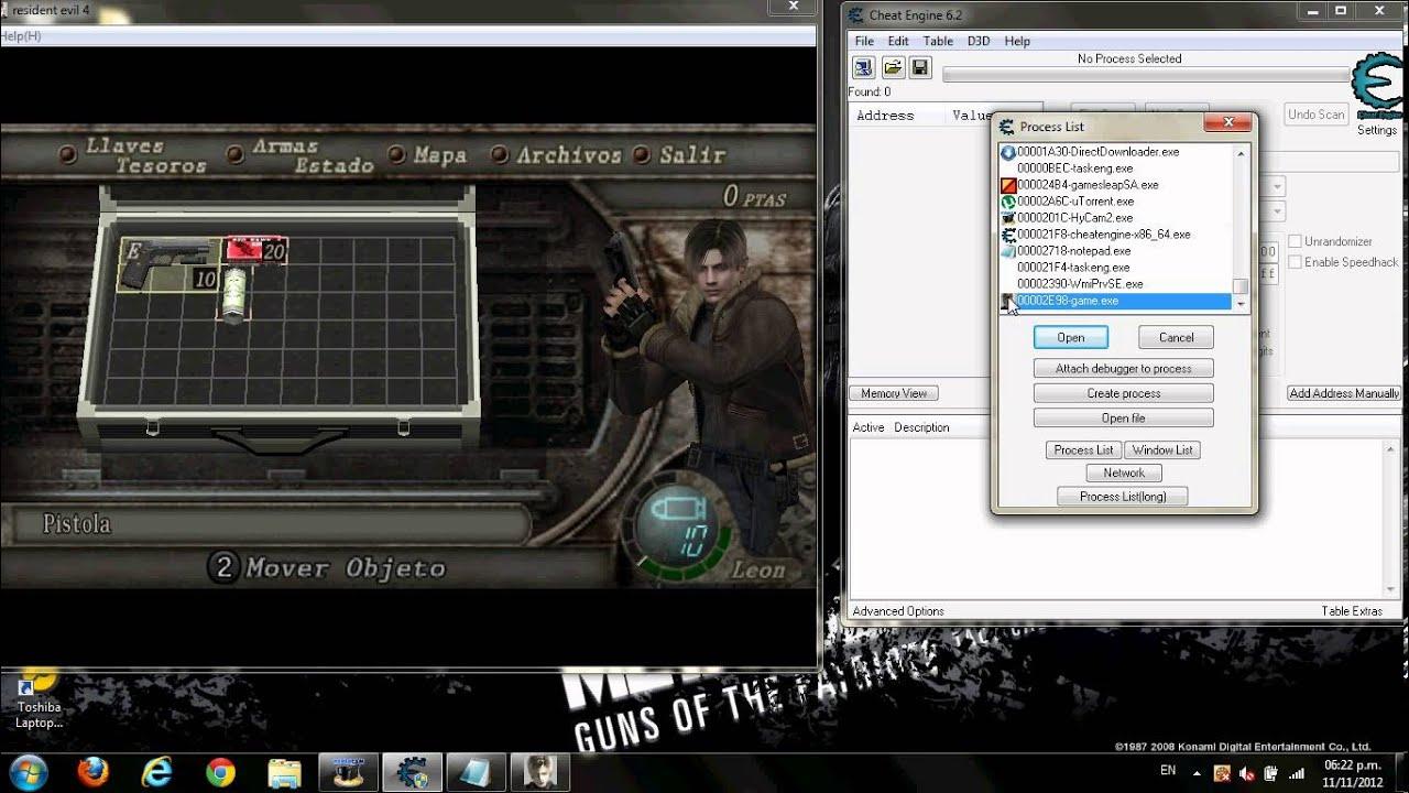 Resident evil 4 PC infinite ammo tutorial Cheat Engine - YouTube