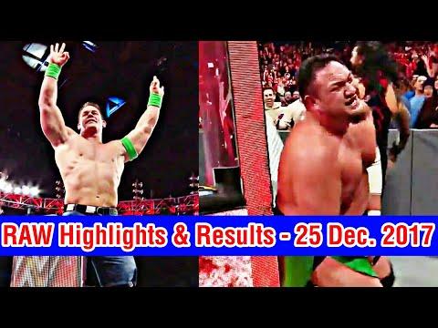 WWE RAW Highlights & Results 25 Dec. 2017 | John Cena Return | Roman Reigns vs Samoa Joe thumbnail