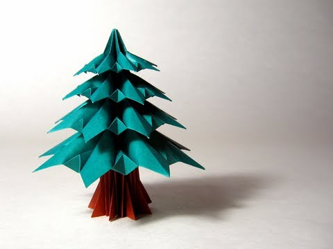 Easy Origami Christmas Tree DIY - Red Ted Art - Make crafting with ... | 360x480