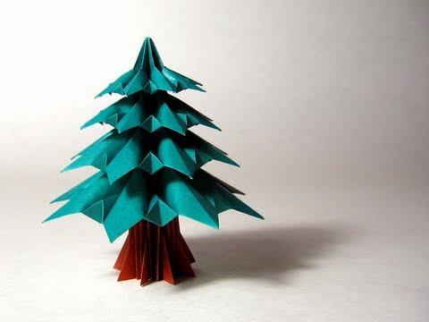 christmas origami diagram 1999 mercedes sl500 radio wiring instructions fir tree francesco guarnieri youtube