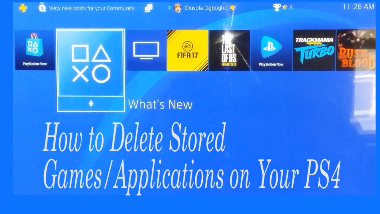 Manage PS4 Saved Data in System Storage - PlayStation