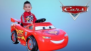 Unboxing Disney Cars Lightning McQueen Battery-Powered Ride On Car 12V Test Drive  Ckn Toys thumbnail