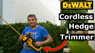 DeWalt DCHT820B Cordless Hedge Trimmer Tool Review, Testing