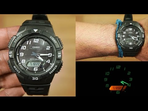 Casio Standard AQ-S800W-1BV TOUGH SOLAR : Unboxing