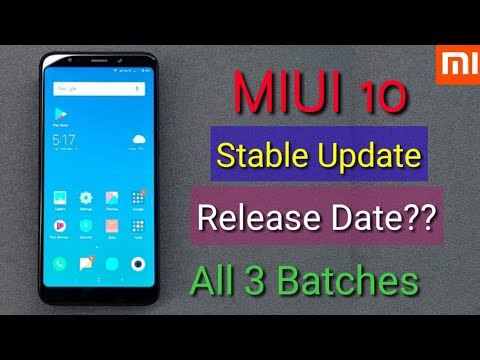 Miui 10 Global Stable update release date | India | Supported Smartphone list | miui 10 release date