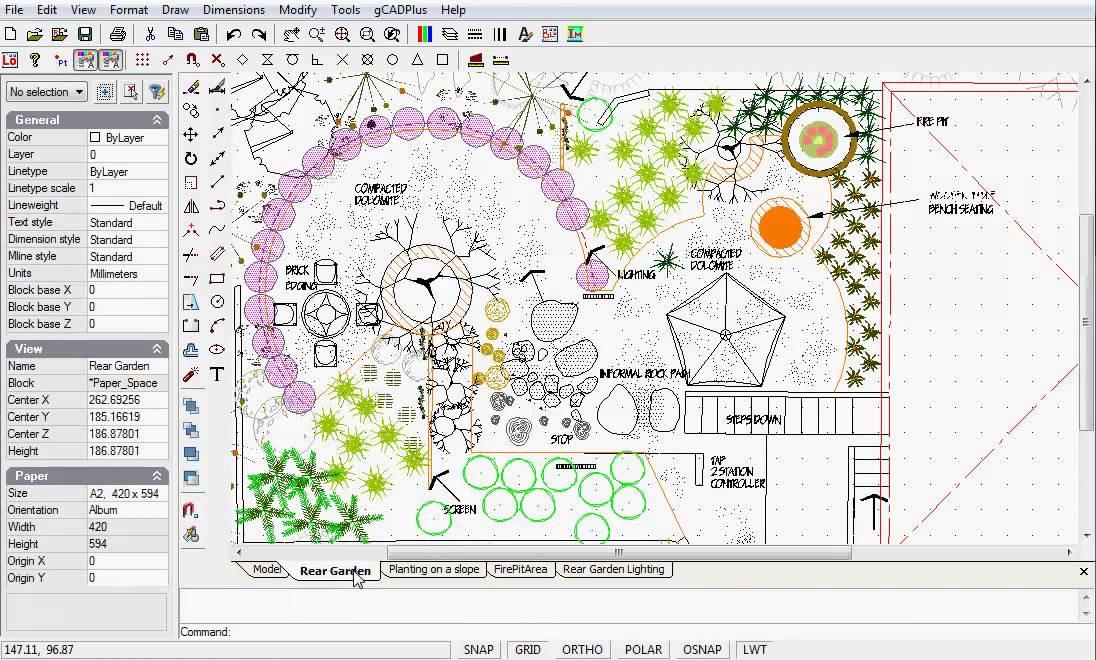 Landscape design with CAD software - YouTube