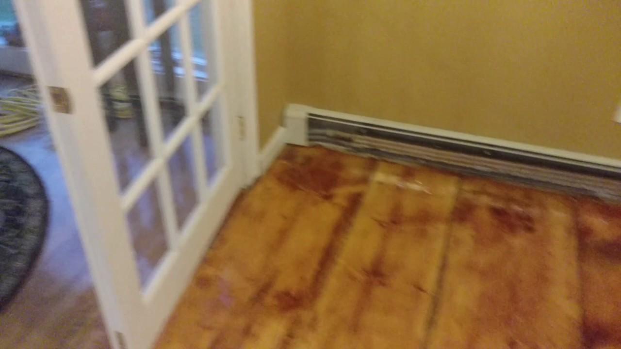 Applying Linseed Oil On Pine Floor Youtube