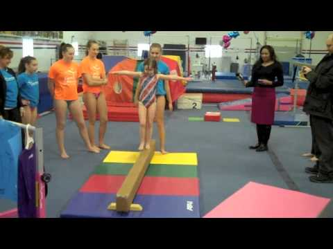 On Location: Six-Year-Old Surprised With Gymnastics Equipment