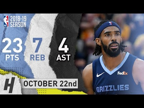 Mike Conley Full Highlights Grizzlies vs Jazz 2018.10.22 - 21 Pts, 7 Reb, 4 Ast!