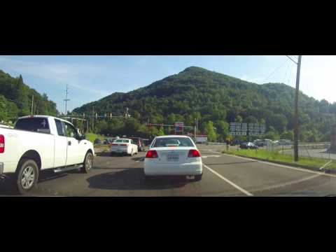 Driving through Weber City, Virginia on US 23