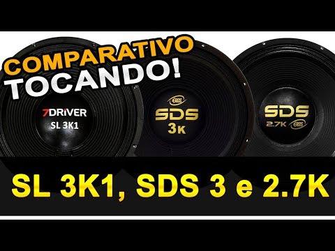 Comparativo TOCANDO Eros SDS 2.7 e 3k com 7Driver SL 3k1