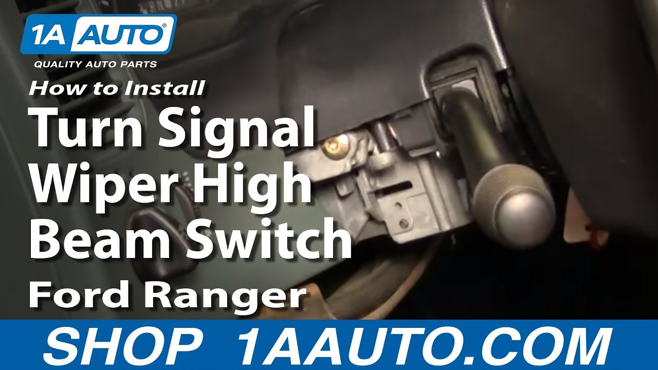 How To Install Replace Turn Signal Wiper High Beam Switch Ford Driving Lights Relay Wiring Diagram Ranger 95 98 1aautocom Youtube