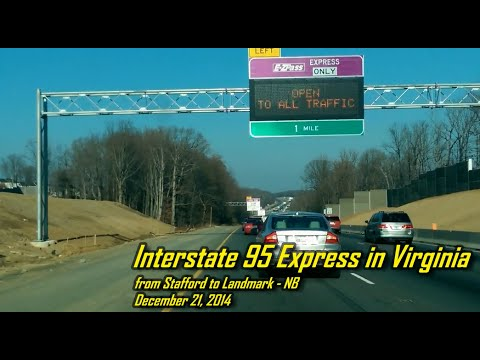 Interstate 95 Express in Virginia - from Stafford to Landmark