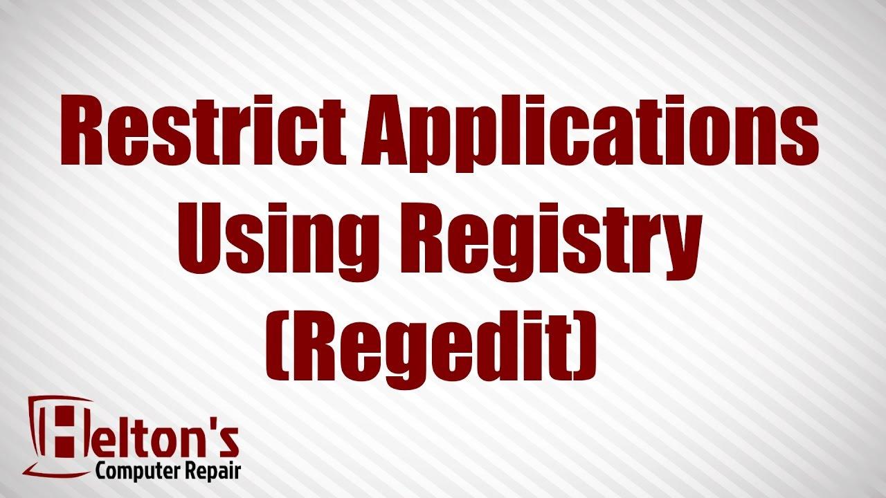 how to open registry in regedit