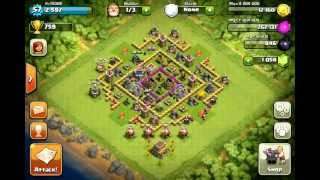 Clash of clans - 170 goblin and 10 wallbreaker fail replay