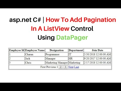 Listview Pagination Using Datapager In Asp.net C#