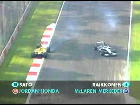 Monza 2002 - Siinä osuu Kimi ja Sato yhteen
