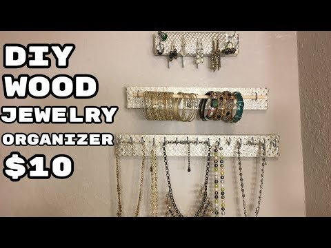 DIY Jewelry Display Organizer, CHEAP and EASY to make