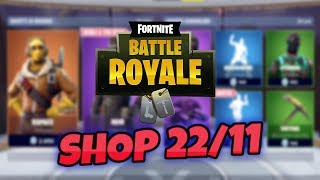 "Fortnite ""SHOP"" November 22 SKIN RAPACE, Noir, Detective and ""NEW"" Crazy Feet Dance"