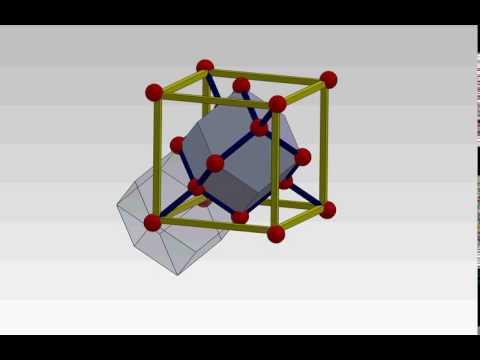 Diamond structure and rhombic dodecahedral shape