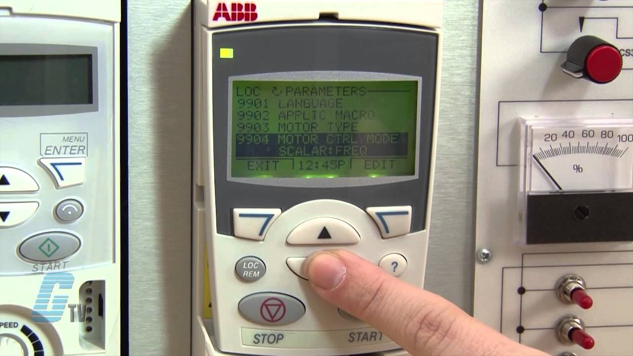 abb acs 355 ac drive basic start up advanced control pad youtube ABB ACS350 User Manual abb acs355 wiring diagram