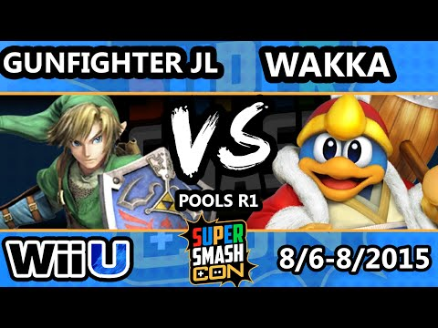 SSC - Gunfighter JL (Link, Robin) Vs Wakka (Peach, DDD) SSB4 Pools - Smash Wii U - Smash 4