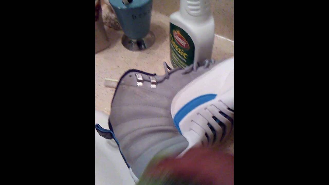 Cleaning wolf grey 12's - YouTube