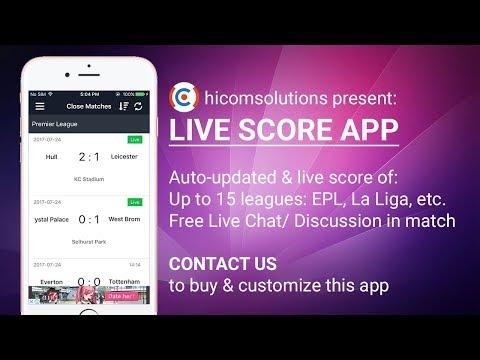 Live score football app template - The best App HiCom Solutions