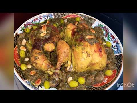 poulet-aux-olives-recette-détaillée-الدجاج-محمر-و-مدعمة