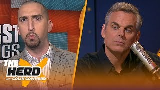 Nick Wright analyzes Magic and Kobe's comments on LeBron's workload | NBA | THE HERD