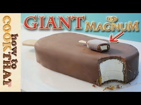 Giant Magnum Double Caramel Icecream Cake How To Cook That Ann Reardon