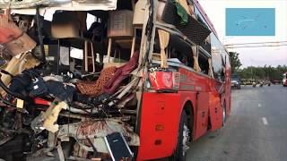 Hiện trường vụ tai nạn giao thông kinh hoàng ở Khánh Hòa
