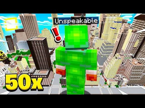 HOW TO BECOME 50x BIGGER IN MINECRAFT!