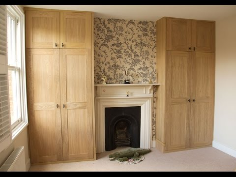 oak veneered mdf alcove fitted wardrobes