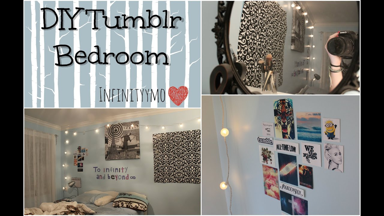 diy tumblr bedroom infinityymo youtube - Diy Bedroom Decor Ideas