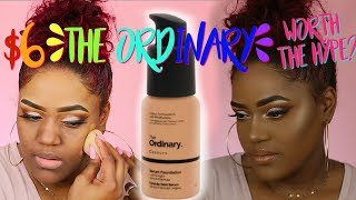 I FINALLY GOT IT AFTER MONTHS! The ORDINARY Coverage FOUNDATION REVIEW + WEAR TEST | WOC