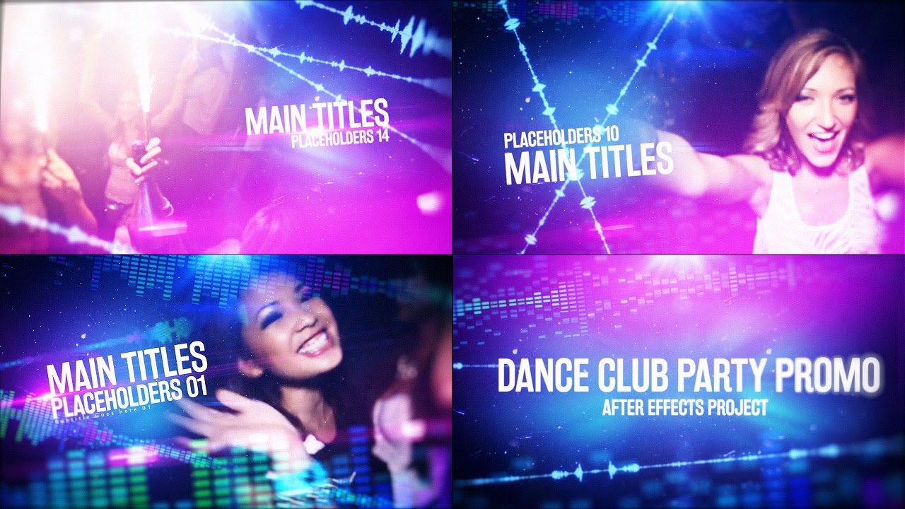 dance club party promo videohive after effects template youtube. Black Bedroom Furniture Sets. Home Design Ideas