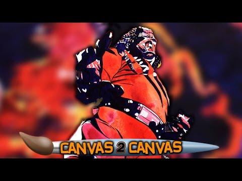 Kane Bringt Das Fegefeuer Auf Die Leinwand: WWE Canvas 2 Canvas