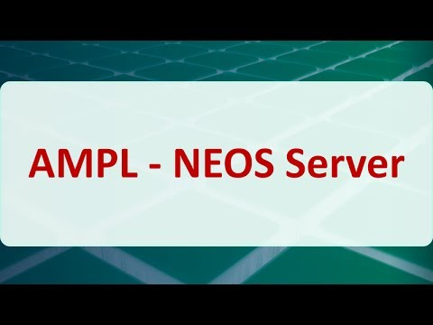 Operations Research 15F: AMPL - NEOS Server