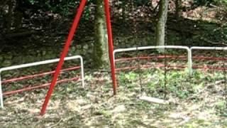息子と釣堀から移動中の山道で、こんな所に公園が有るの?と思う所に公...