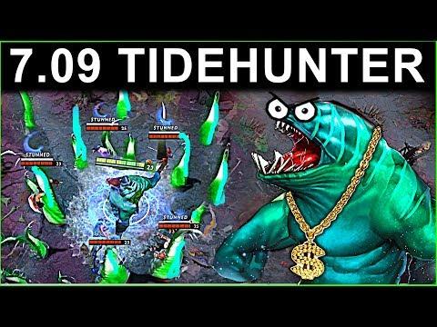 AMAZING TIDEHUNTER PATCH 7.09 DOTA 2 NEW META GAMEPLAY #32 (CARRY TIDEHUNTER)