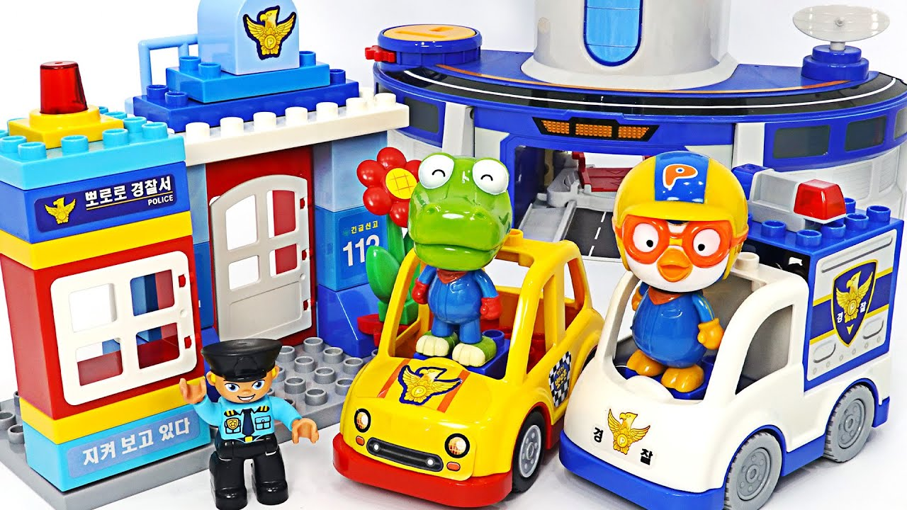 Baby sharks are dangerous! Pororo Police Block dispatch | PinkyPopTOY