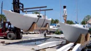 BoatSmith Delivers and Assembles Dex's Ariki Hulls and Beams