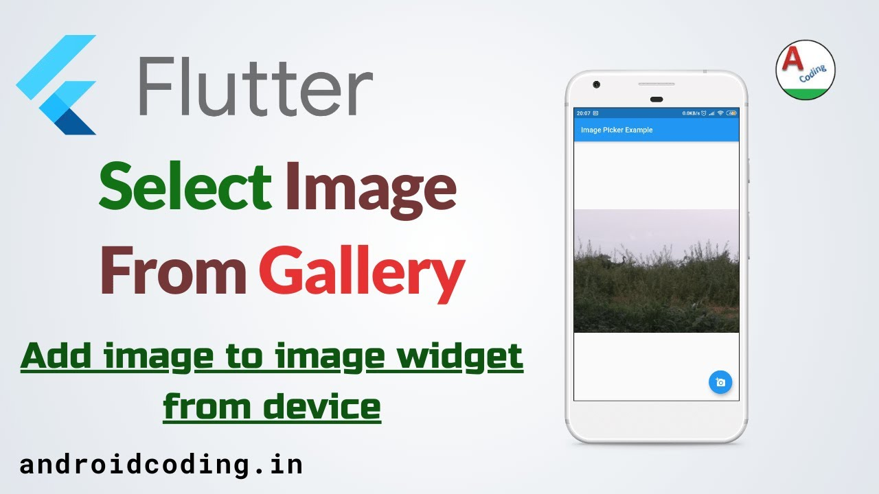 Flutter - Import image from gallery & camera | Image picker