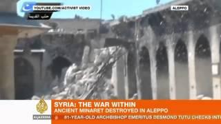 Syria fighting in Aleppo destroys UNESCO site