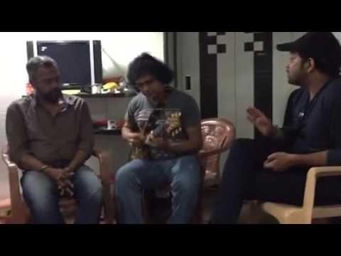 Kaatrai Konjam - Rehearsal before Ilayaraja Aayiram | Singer Karthik, Guitar Prasanna, Gautam Menon